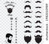 set of isolated vector beard...   Shutterstock .eps vector #1982010989