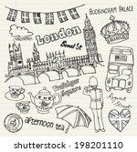 london icons doodle set | Shutterstock .eps vector #198201110