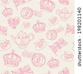 hand drawn london england icons ... | Shutterstock .eps vector #198201140