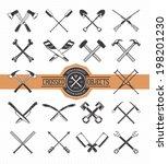 arrow,art,axe,bat,bone,bundle,classic,collection,crossed,crutch,design,element,emblem,graphic,hammer