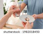 senior family taking food...   Shutterstock . vector #1982018450