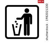 litter disposal sign. vector...   Shutterstock .eps vector #1982021330