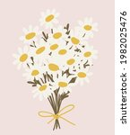 abstract bouquet of white... | Shutterstock .eps vector #1982025476