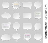 dialogue cloud. vector... | Shutterstock .eps vector #198204674