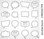dialogue cloud. vector... | Shutterstock .eps vector #198204749