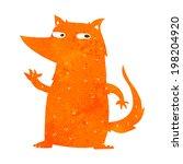 cartoon fox waving | Shutterstock . vector #198204920