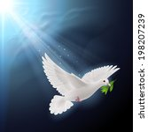 Dove Of Peace Flying With A...