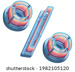 Toy Plastic Colorful Neon Font. ...