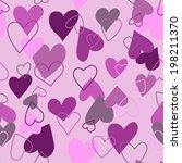 seamless hearts | Shutterstock .eps vector #198211370