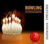 bowling background | Shutterstock .eps vector #198212363
