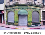 Photography of and old shop built in 1907 at a corner of Santa Fe City, Argentina
