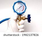 Picture Of Blue Pressure Meter  ...
