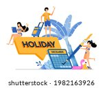people choose year end dates... | Shutterstock .eps vector #1982163926