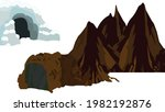 mountains cave and snowy cave... | Shutterstock .eps vector #1982192876