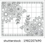 coloring book for adult and... | Shutterstock .eps vector #1982207690