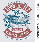 born to fly accross the sky  | Shutterstock .eps vector #1982211356