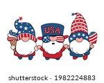cute three america gnomes 4th... | Shutterstock .eps vector #1982224883