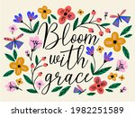 Hand Drawn Creative Flowers And ...