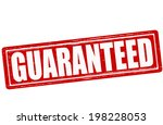 stamp with word guaranteed... | Shutterstock .eps vector #198228053