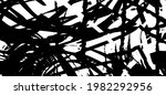 grunge texture is black and... | Shutterstock .eps vector #1982292956