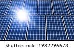 solar panels and sun  solar... | Shutterstock .eps vector #1982296673