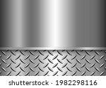 background silver metallic  3d... | Shutterstock .eps vector #1982298116