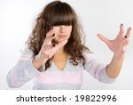 funny portrait of young lady | Shutterstock . vector #19822996