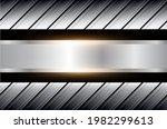 silver metallic background  3d... | Shutterstock .eps vector #1982299613
