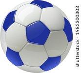 soccer ball isolated  white... | Shutterstock .eps vector #1982300303