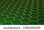 background with 3d hexagons... | Shutterstock . vector #1982300690