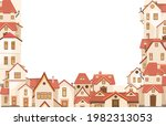 cartoon houses. village or town.... | Shutterstock .eps vector #1982313053