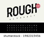 grunge font. rough stamp...   Shutterstock .eps vector #1982315456