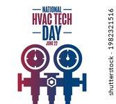 national hvac tech day. june 22.... | Shutterstock .eps vector #1982321516