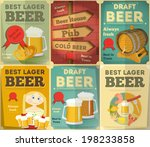 beer retro posters collection... | Shutterstock .eps vector #198233858