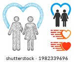 mesh marriage polygonal web...   Shutterstock .eps vector #1982339696