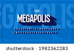 3d font and typeface. modern...   Shutterstock .eps vector #1982362283