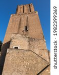 Torre delle Milizie - Tower of the Militia in Rome, Italy. Medieval fortified tower from early 13th century.