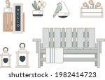 outdoor furniture and patio...   Shutterstock .eps vector #1982414723