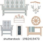 outdoor furniture and patio...   Shutterstock .eps vector #1982415473