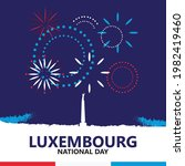 luxembourg national day.... | Shutterstock .eps vector #1982419460