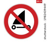 no sand yachting sign. vector...   Shutterstock .eps vector #1982439449