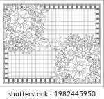 coloring book for adult and... | Shutterstock .eps vector #1982445950