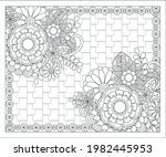 coloring book for adult and... | Shutterstock .eps vector #1982445953