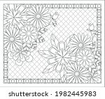 coloring book for adult and... | Shutterstock .eps vector #1982445983