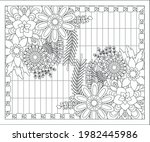 coloring book for adult and... | Shutterstock .eps vector #1982445986