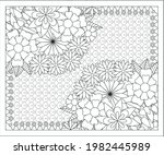 coloring book for adult and... | Shutterstock .eps vector #1982445989