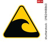 tsunami hazard zone sign....   Shutterstock .eps vector #1982448863