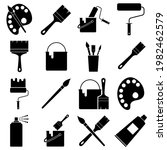 drawing and painting  icons set ...   Shutterstock .eps vector #1982462579