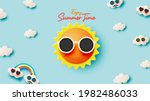hello summer with cute sunny... | Shutterstock .eps vector #1982486033