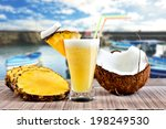 pinacolada pina colada cocktail ... | Shutterstock . vector #198249530
